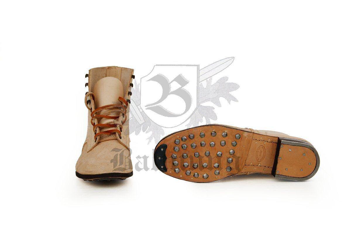 WH Schnürschuhe, geschwärztes Leder Wehrmacht Schuhe Stiefel