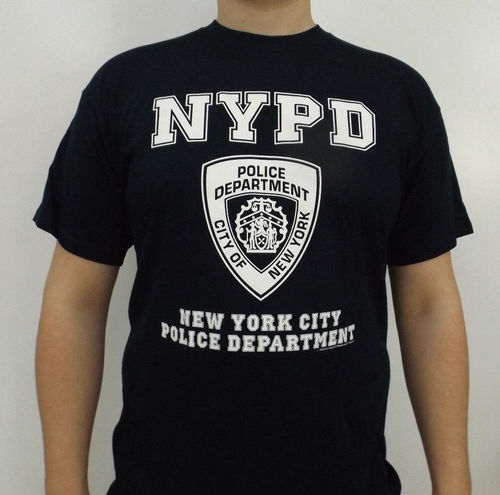 T-Shirt New York Polizei blau